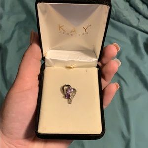 Amethyst birthstone charm from Kay Jewelers